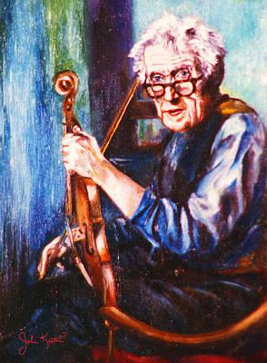 The Irish Violin Maker Art Print by John Keaton