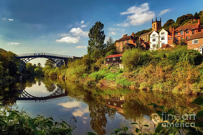 Severn River Photograph - The Iron Bridge by Adrian Evans