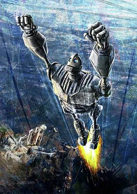 Mecha Digital Art - The Iron Giant by Andrea Gatti