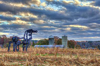 Photograph - The Iron Horse Fall Friends Sunrise Art by Reid Callaway