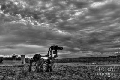 Photograph - The Iron Horse Sunrise 7 B W The Iron Horse Collection Art by Reid Callaway