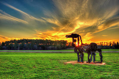 Photograph - The Iron Horse Sunset 7 The Iron Horse Collection Art by Reid Callaway