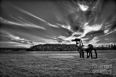 Photograph - The Iron Horse Sunset B W The Iron Horse Collection Art by Reid Callaway