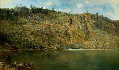 New York Painter Painting - The Iron Mine, Port Henry, New York by Homer Dodge Martin