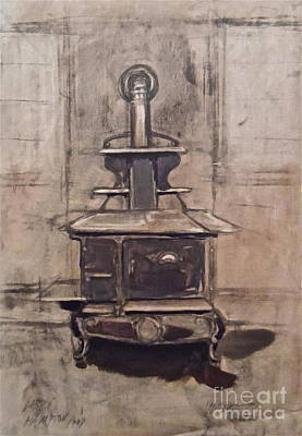 Painting - The Iron Stove by Wade Hampton