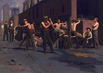 The Ironworkers' Noontime Art Print by Thomas Pollack Anshutz
