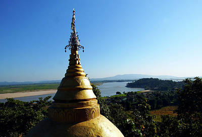Photograph - The Irrawaddy River From Tigyang by Kurt Van Wagner