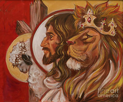 Lion Of Judah Painting - The Is The Was And The Is To Come by Karen Fulk