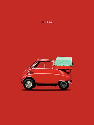 The Isetta 300 Red Print by Mark Rogan