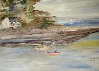 The Island Cove Art Print by Edward Wolverton