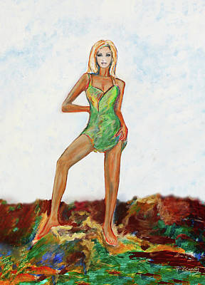 Painting - The Island Girl by Tom Conway