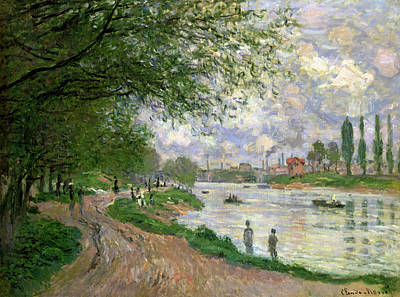 Pathways Painting - The Island Of La Grande Jatte by Claude Monet