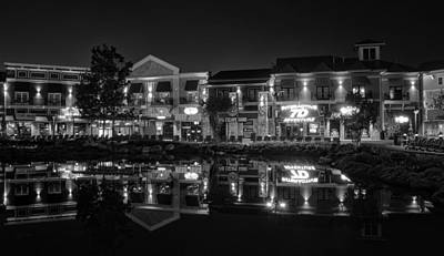 The Island Shops In Black And White Art Print