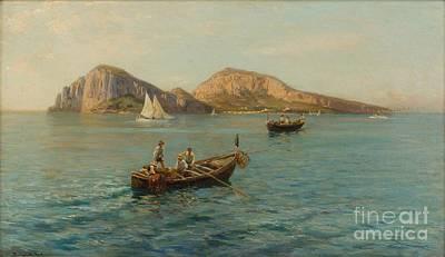 The Isle Of Capri Art Print by MotionAge Designs