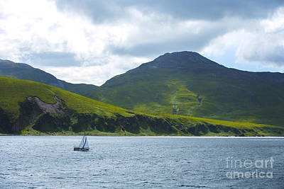 Sailboat Ocean Photograph - The Isle Of Jura, Scotland by Diane Diederich