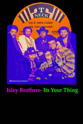 Digital Art - The Isley Brothers by Michael Chatman