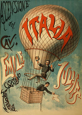 Drawing - The Italia Ascensione by Vintage Pix