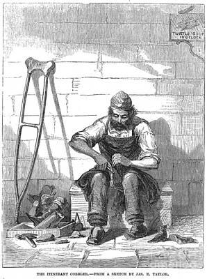 Shoemaker Photograph - The Itinerant Cobbler by Granger