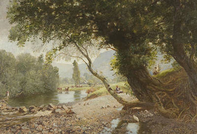 River View Painting - The Ivy, The Oak And The Bonnie Birken Tree by David Murray