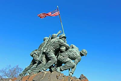 Photograph - The Iwo Jima Monument -- West Side by Cora Wandel