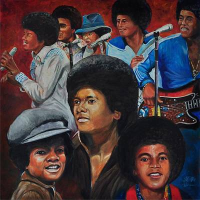 Painting - The Jackson 5 by Ken Pridgeon