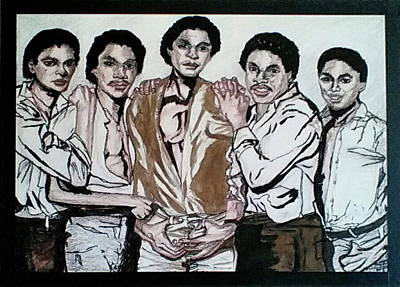 Mixed Media - The Jacksons Five  by Michelle Gilmore