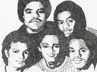 Drawing - The Jacksons Tribute by Michelle Gilmore