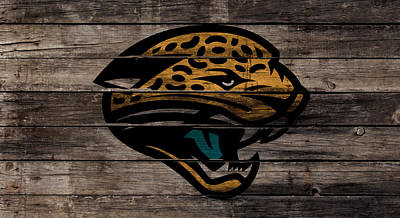 The Jacksonville Jaguars 1w Art Print by Brian Reaves