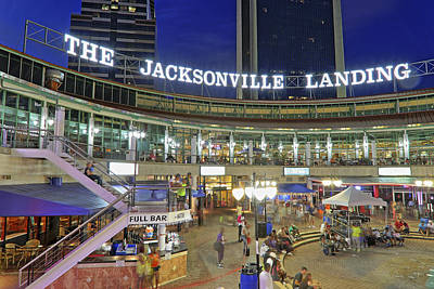 Photograph - The Jacksonville Landing - Florida - Jazzfest by Jason Politte