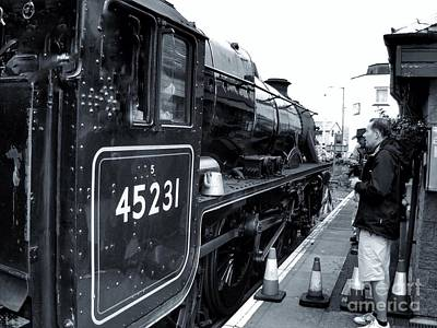 Photograph - The Jacobite At Mallaig Station Platform 3 by Joan-Violet Stretch