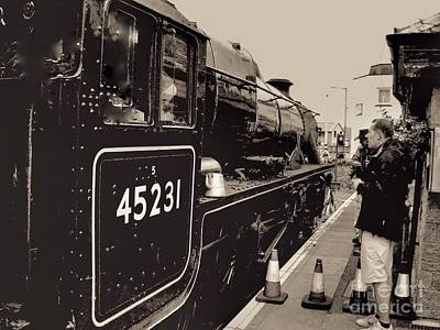 Photograph - The Jacobite At Mallaig Station Platform 4 by Joan-Violet Stretch