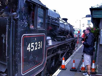 Photograph - The Jacobite At Mallaig Station Platform  by Joan-Violet Stretch
