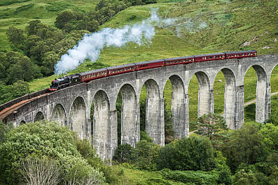 Potter Photograph - The Jacobite Crossing Glenfinnan Viaduct by Antony Meadley