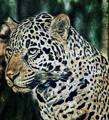 Digital Art - The Jaguar Spirit by Absinthe Art By Michelle LeAnn Scott