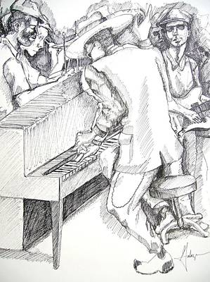 Music Drawing - The Jam by Gary Galarza