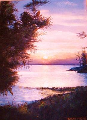 The James River At Twilight Art Print by Anne-Elizabeth Whiteway