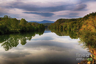 Photograph - The James River Reflection by Dawn Gari
