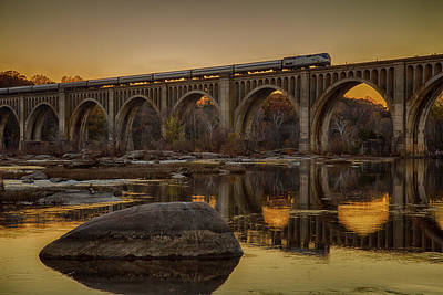 Wall Art - Photograph - The James River Trestle by Cliff Middlebrook