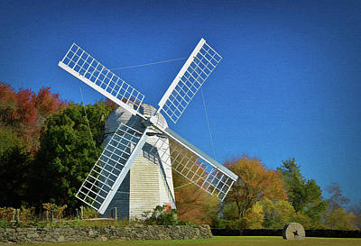 Photograph - The Jamestown Windmill by Nancy De Flon