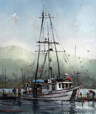Painting - The Janene In Auke Bay by Tim Oliver