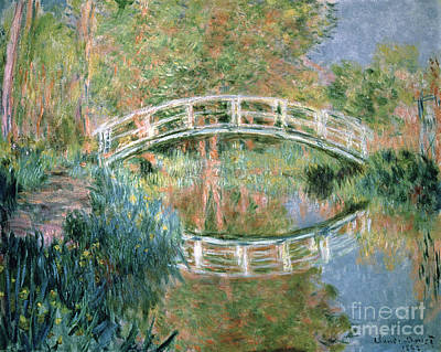 Reflection Painting - The Japanese Bridge by Claude Monet