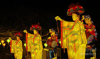 Photograph - The Japanese Lantern Dancers by Steven Hendricks
