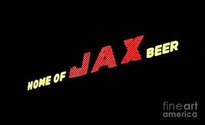 The Jax Beer Sign Artwork Art Print by Joseph Baril