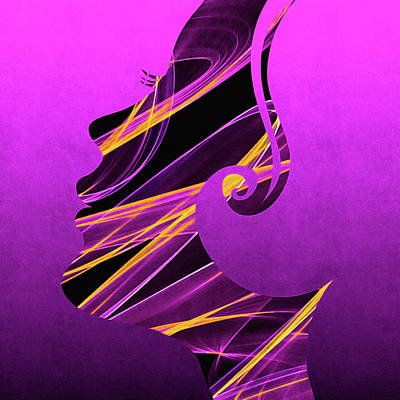 Digital Art - The Jazz Singer by Susan Maxwell Schmidt