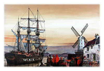Painting - The Jeanie Johnson Famine Ship, Blennerhasset, Kerry. by Val Byrne