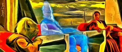 Discussion Painting - The Jedi Council - Pa by Leonardo Digenio