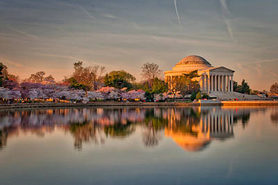 Photograph - The Jefferson Memorial And Cherry Trees In Bloom by Mark Dodd
