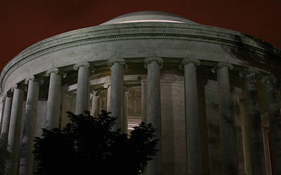 The Jefferson Memorial At Night Art Print by Brian M Lumley