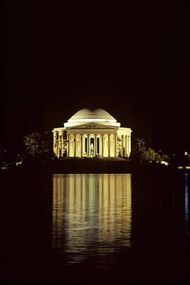 The Jefferson Memorial At Night Print by Kenneth Garrett