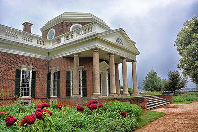 Photograph - The Jefferson Monticello by Mike Martin